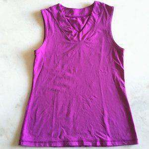 Lululemon sleeveless v neck tank top purple shirt